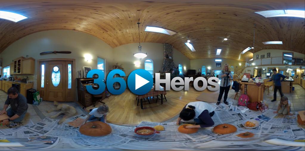 360 Full Spherical Video of Pumpkin Carving