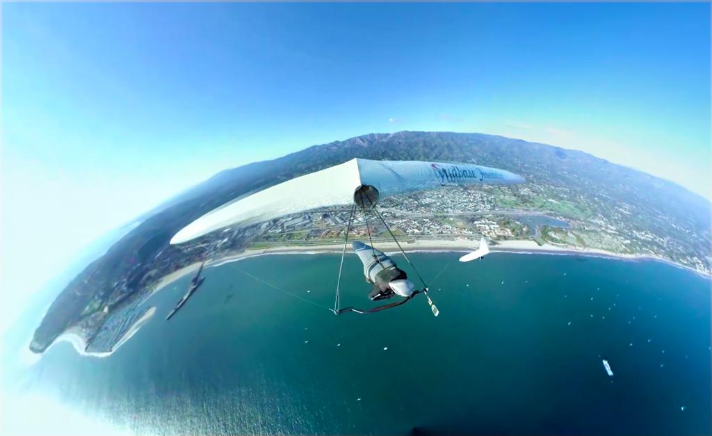 360 Video of Hang Gliding in Santa Barbara, California