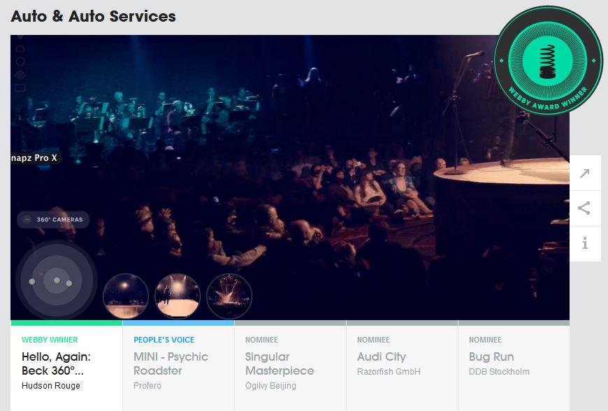 Webby Award - Auto Services