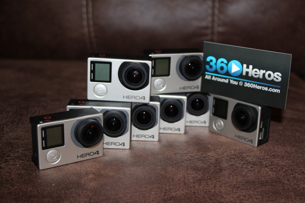 12K 360° video, 30 fps!  Yep, the 360Heros Gear is Ready for the GoPro HERO4