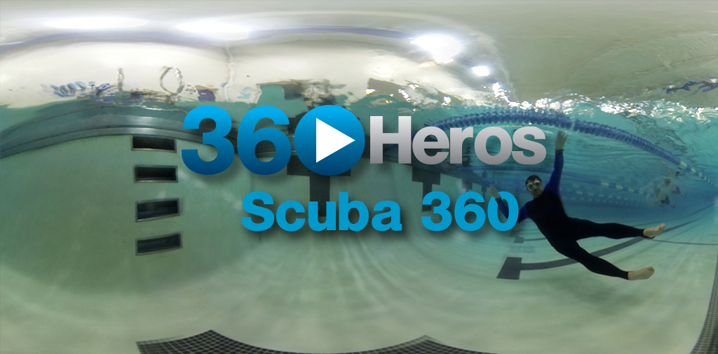 First Underwater 360 Video Scuba Pool Test