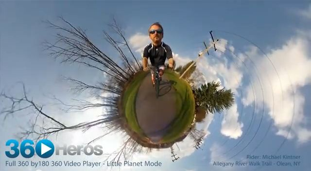 360 Photo (Bike Ride) created directly from 360Heros (Untouched)
