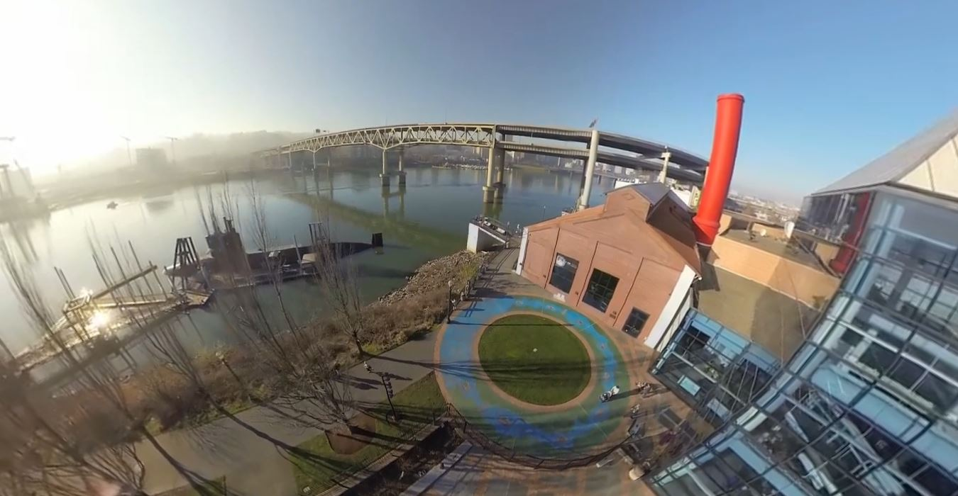 OMSI 360 Video Aerial Flight in Portland, Oregon