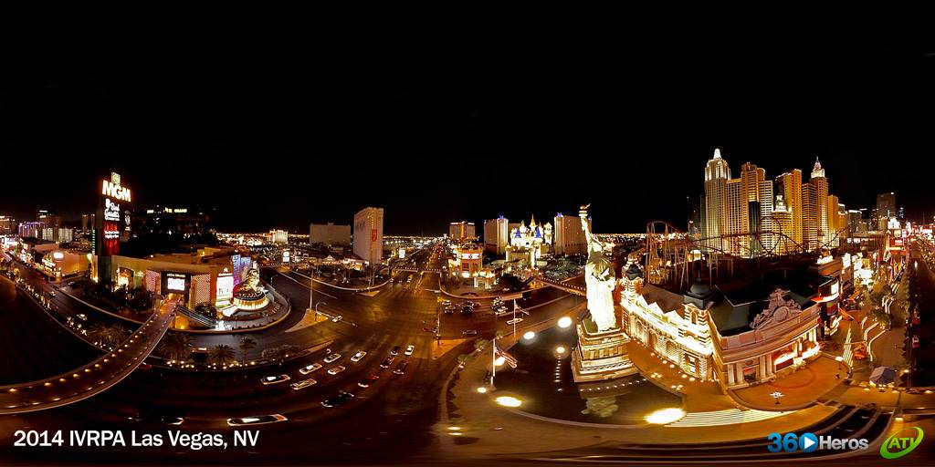 Panoramic shot from our flight over the Las Vegas strip.