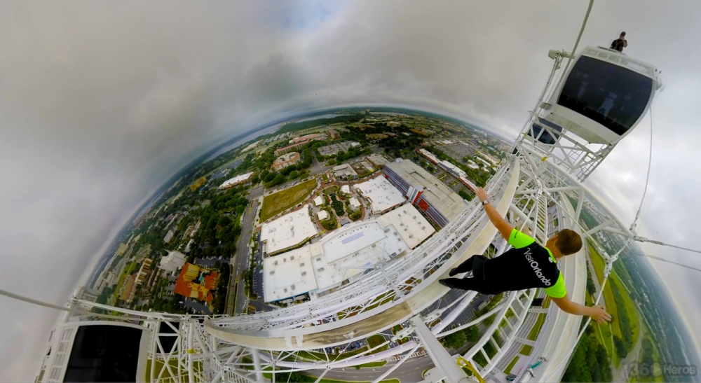 VR from 400 ft: See Nik Wallenda Set a World Record Atop the Orlando Eye