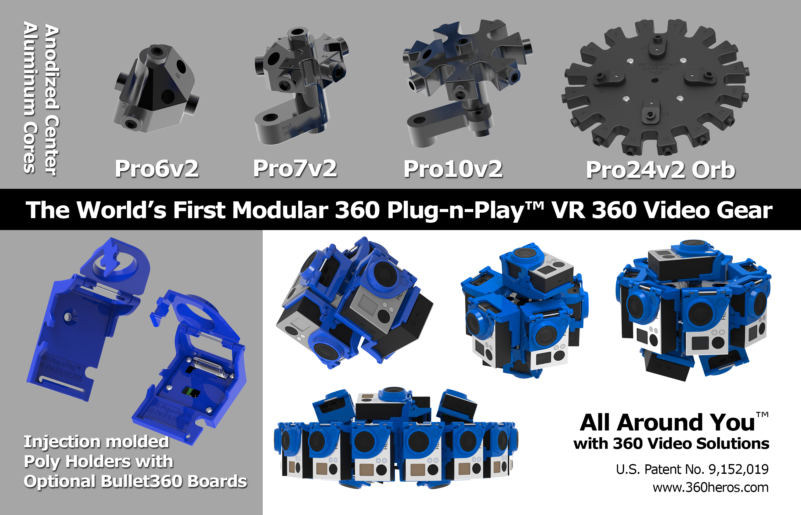 360Heros Launches New Modular VR 360 Video Solutions