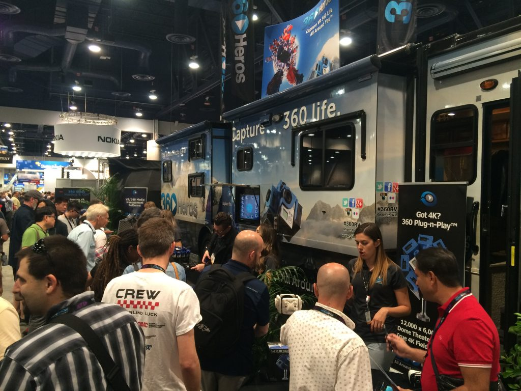 The 360Heros booth at NAB saw a lot of action!