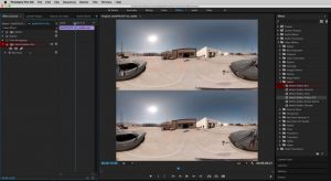 Our team used Mettle VR/360 Tools for Adobe Premiere to add images and text to our spherical video.