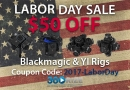 360Rize Labor Day Sale for Blackmagic and YI 360 Video Rigs!